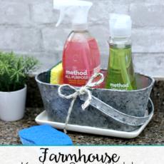 Farmhouse kitchen soap holder