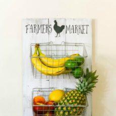 Farmhouse market produce rack