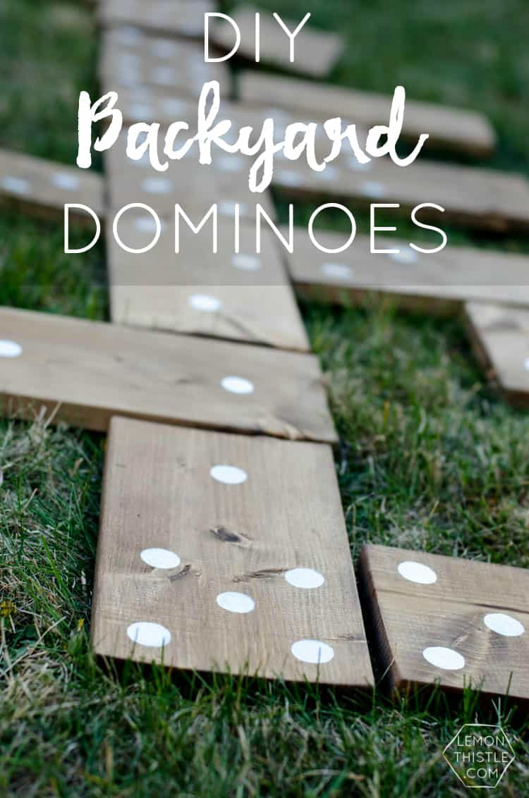 Giant diy backyard dominoes