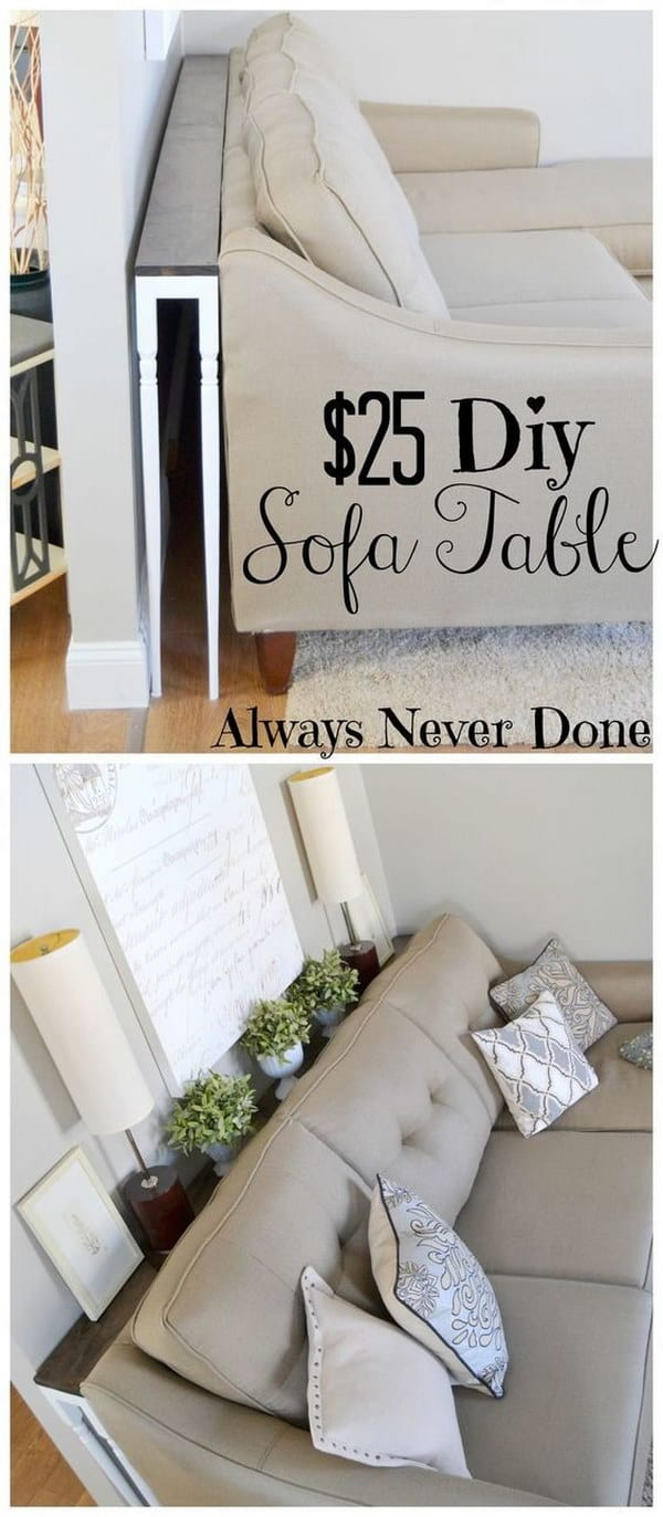 How To Build A Sofa Table To Save Space