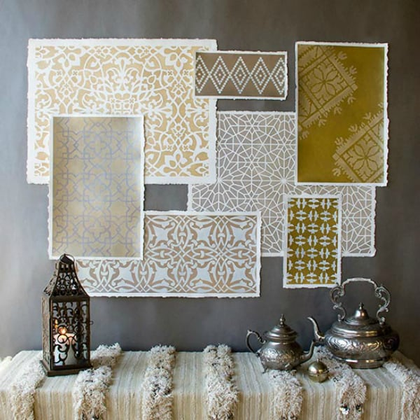 Hometalk diy metallic moroccan screenprints 2