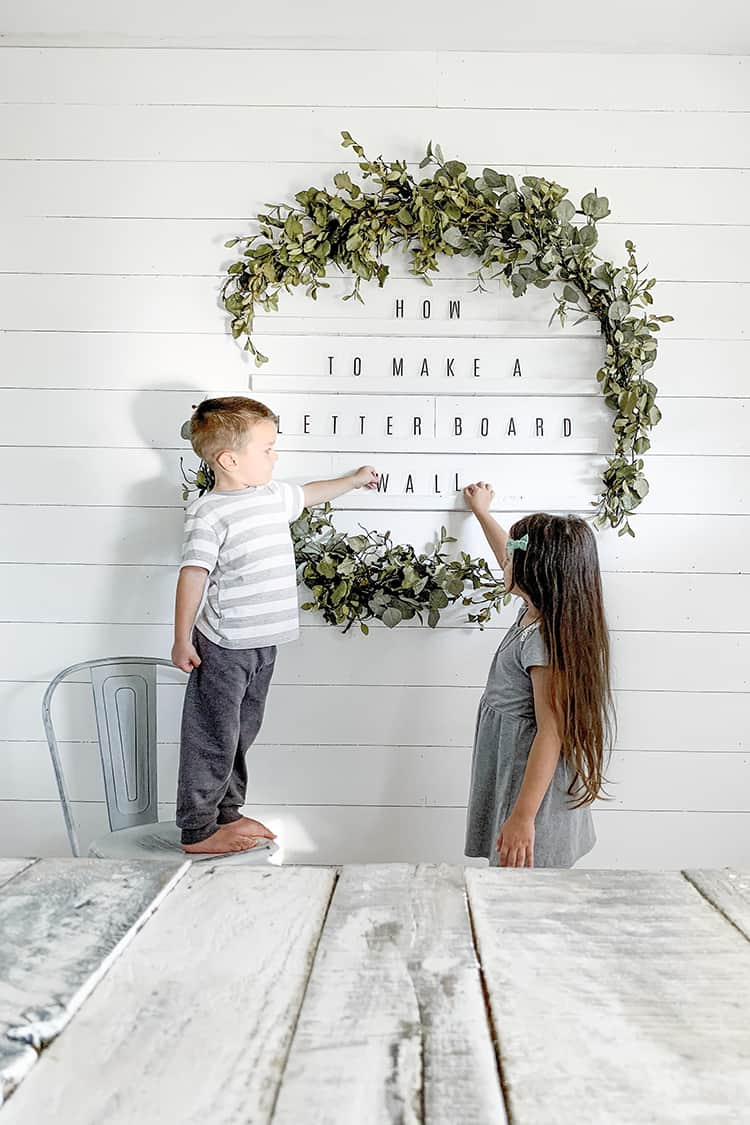How to make an oversized letter board wall diy giant holiday wreath