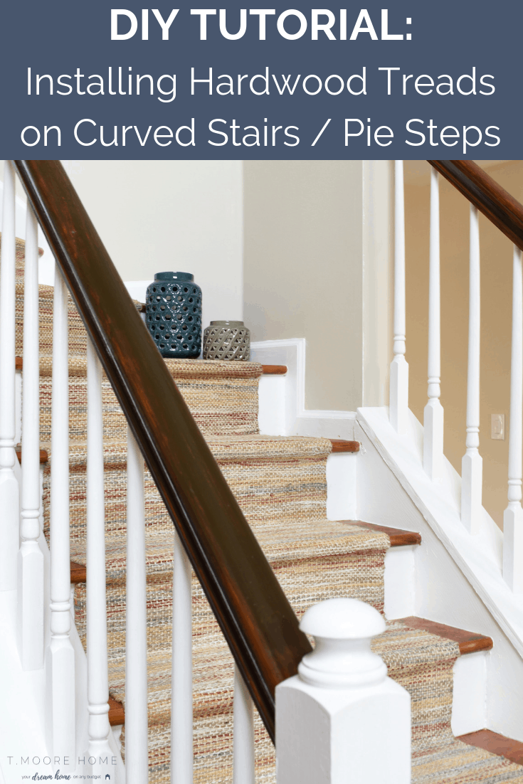 How to install hardwood treads