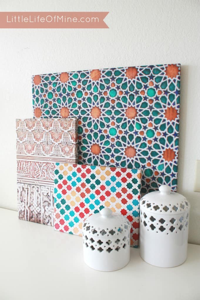 Little life of mine diy colorful moroccan pattern canvases