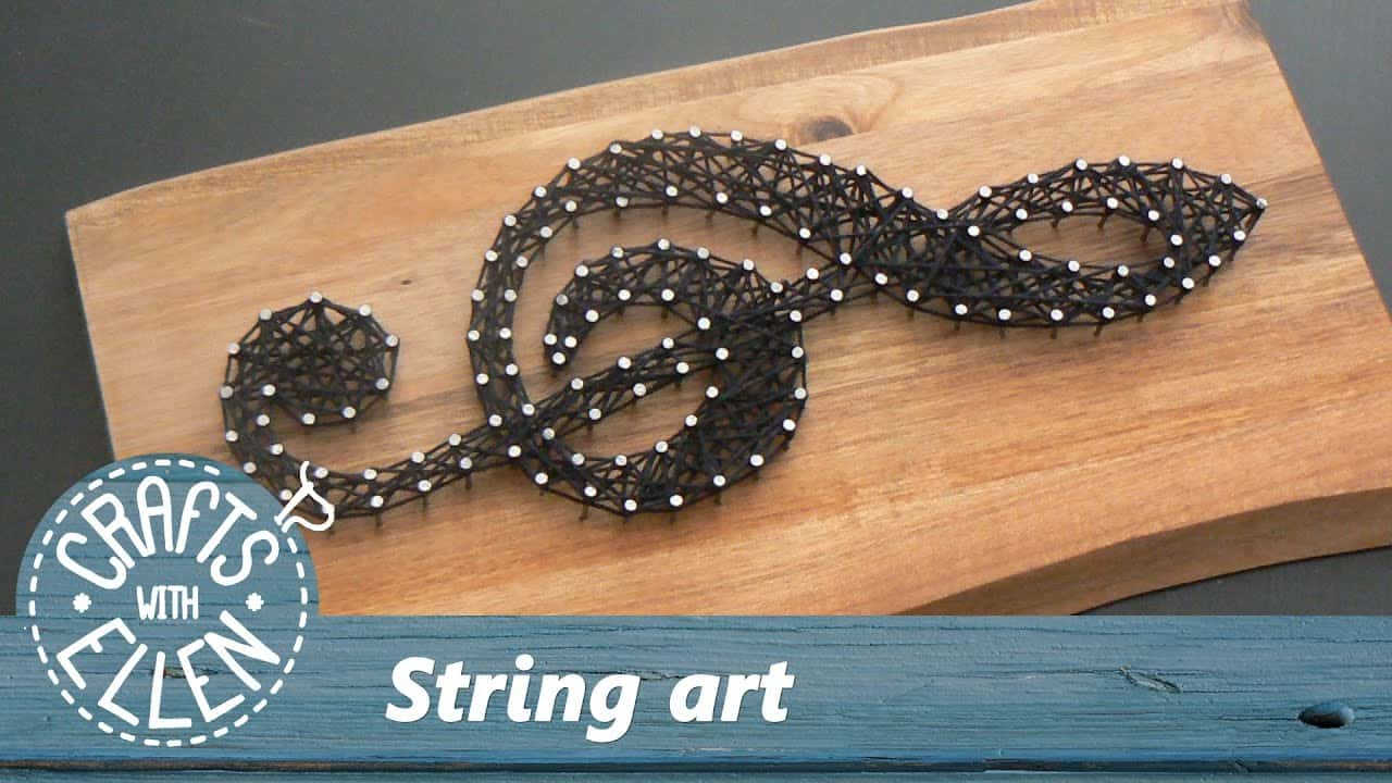 Musical note string art