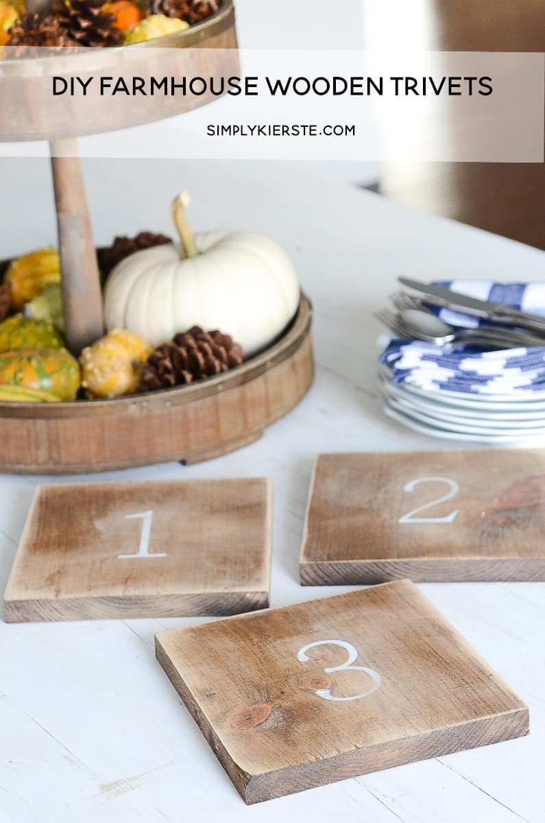 Numbered wooden trivets