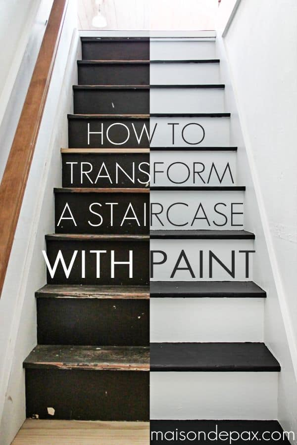 Paint staircase transformation
