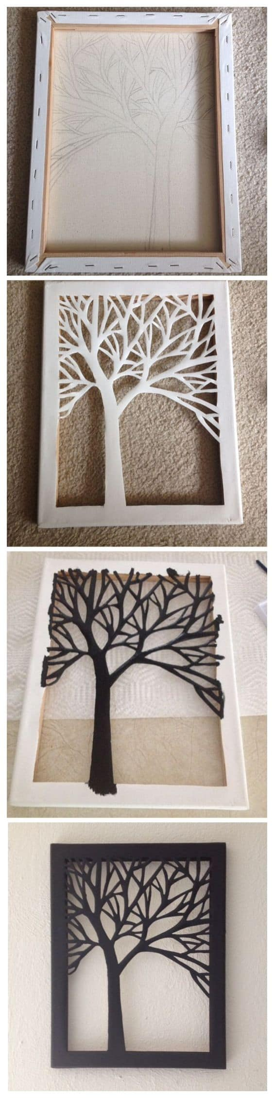 Painted cut out canvas tutorial
