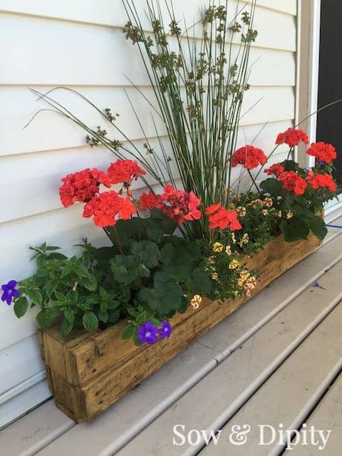 Pallet trough planter