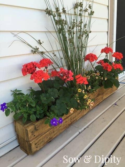 Pallet trough planter