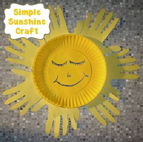 Paper plate and handprint sun