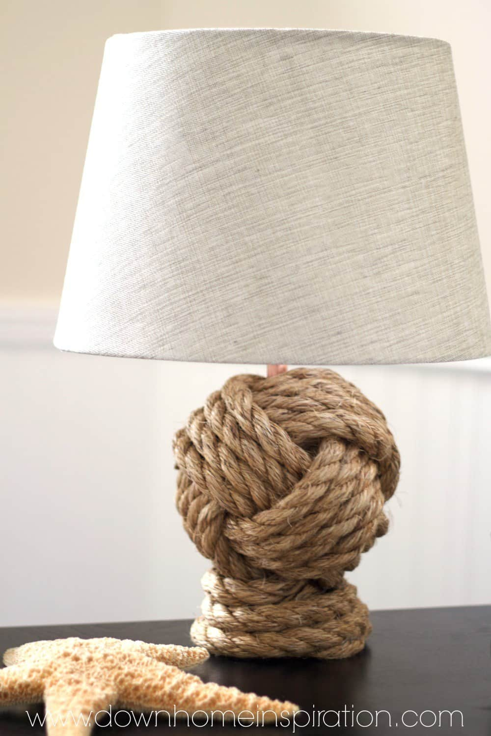 Pottery barn knock off knotted robe lamp