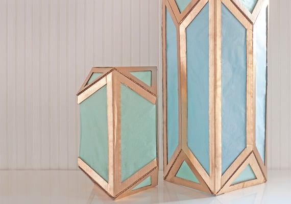 Pretty cardboard lanterns
