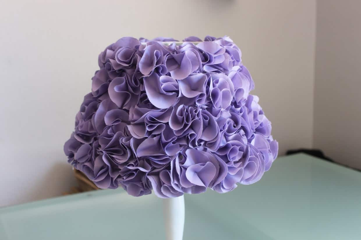 Purple ruffles lampshade