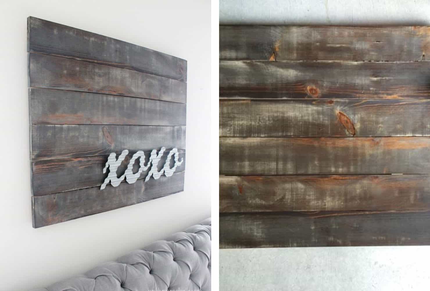 Rustic x's and o's wall art