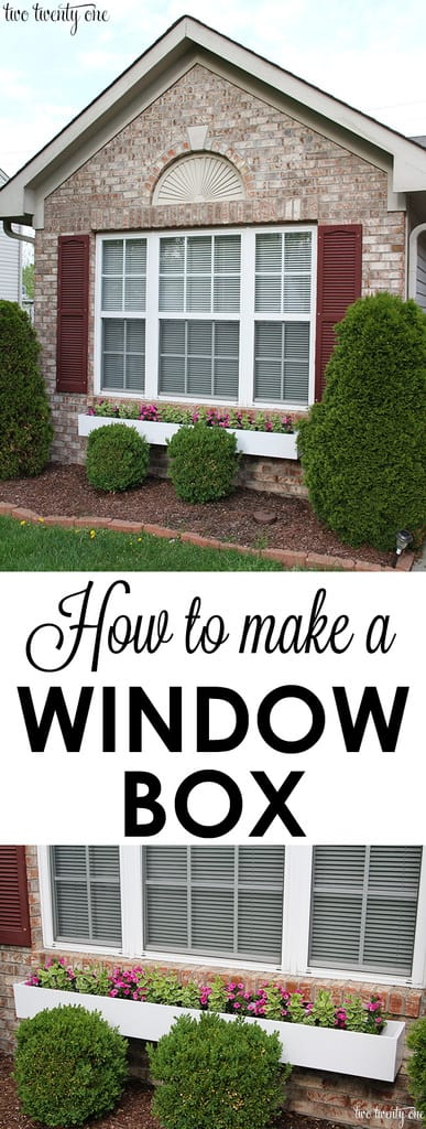 Simple diy window box