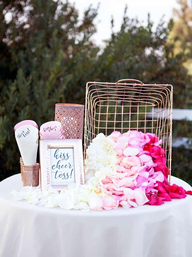 St diy wedding petal toss bar