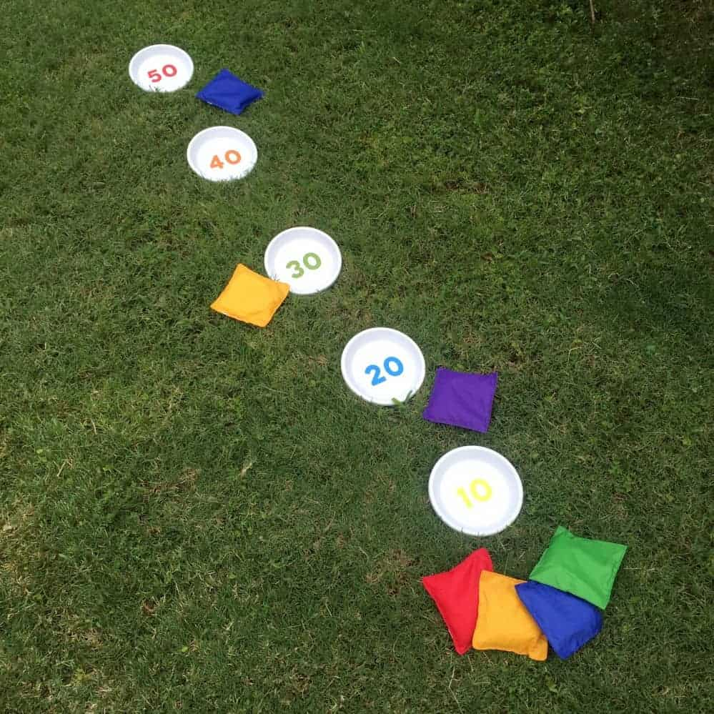 Scored bean bag toss