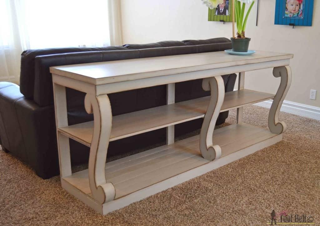 Scroll legged console table