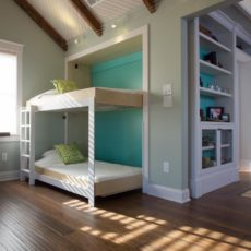 Side folding murphy bunk beds