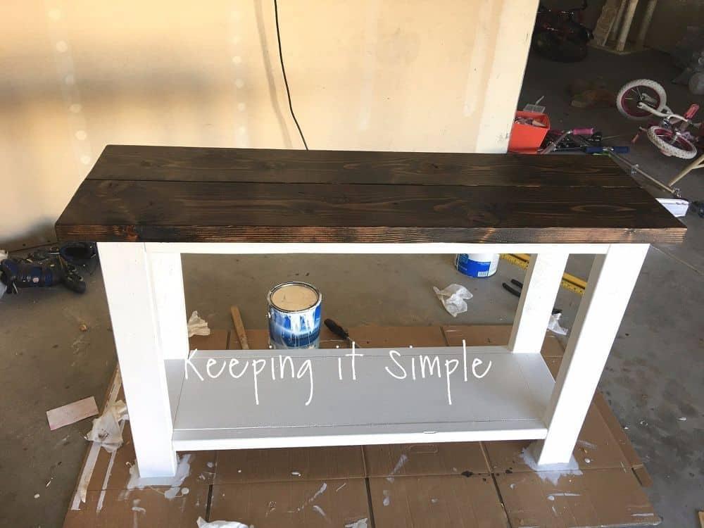 Simple $30 diy sofa table