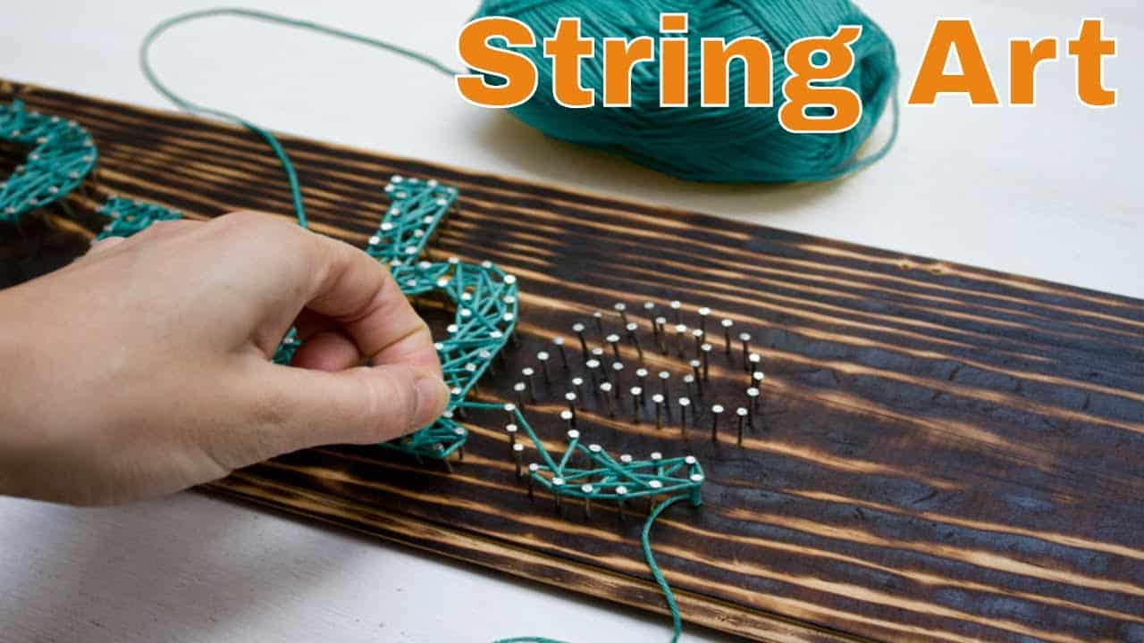 Simple string art lettering