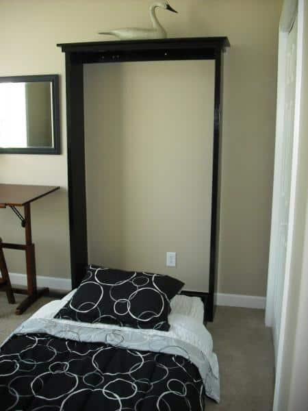 Single murphy bed