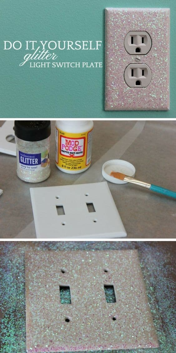 Sparkly light switch and outlet covers