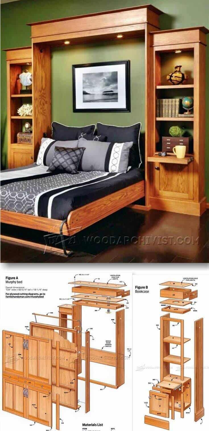 Diy Murphy Bed Ideas For Small Spaces