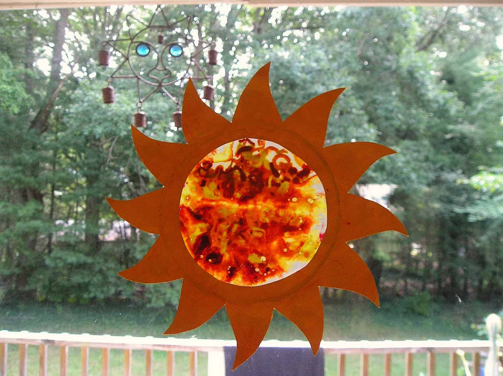 Sun shaped sun catcher