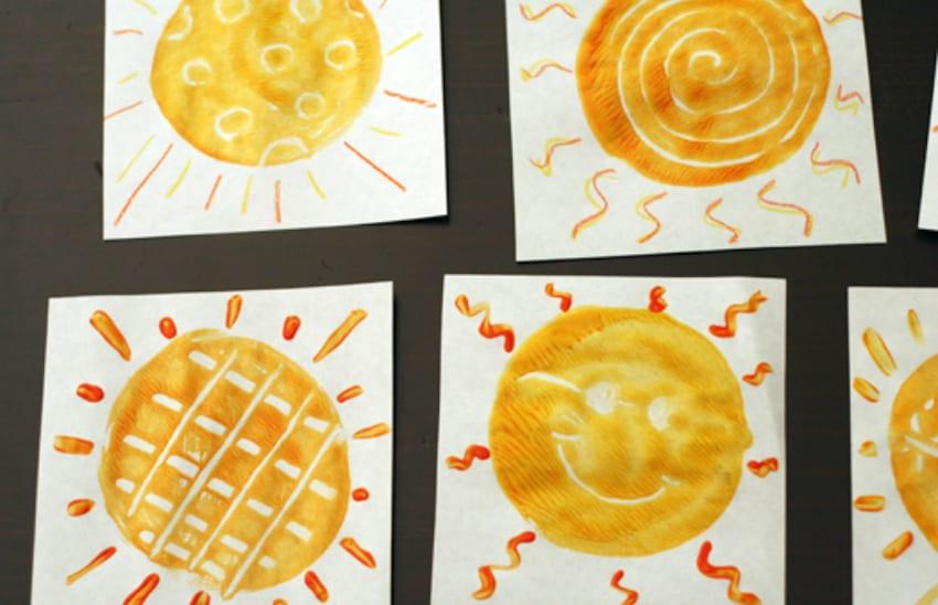 Sunny monoprints