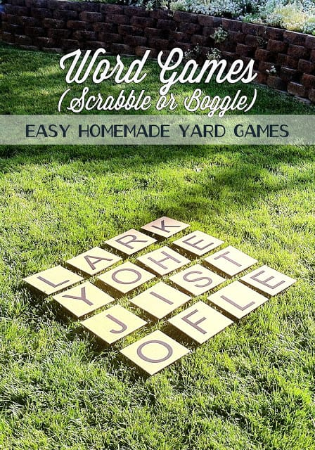Yard scrabble or boggle set