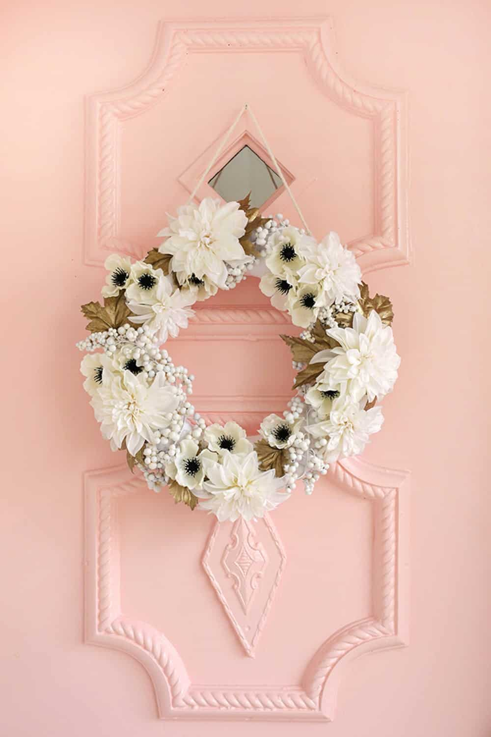Abm white flower wreath diy