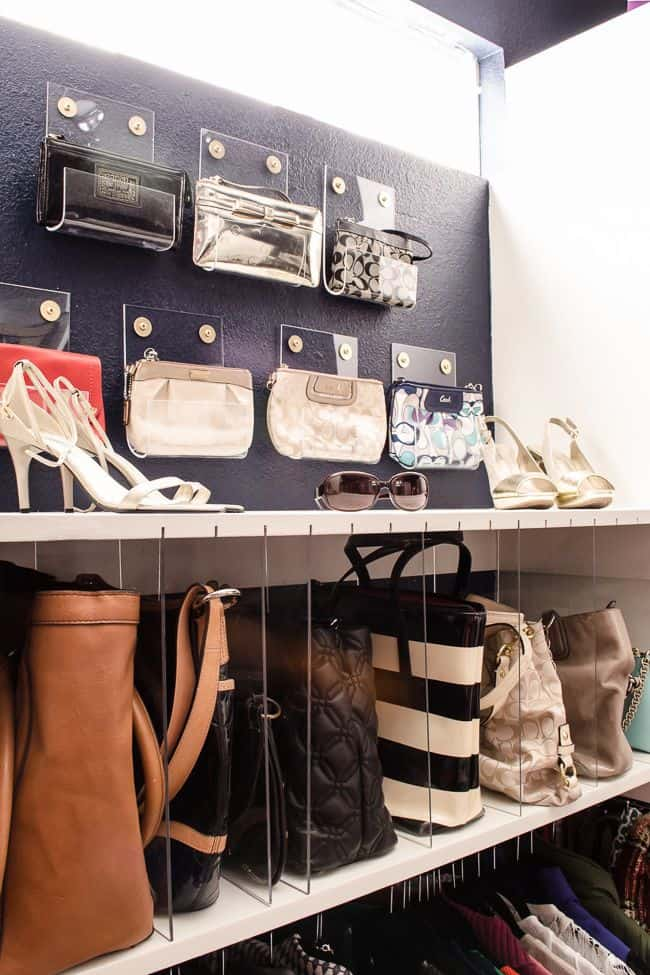Diy acrylic holders for closet organization