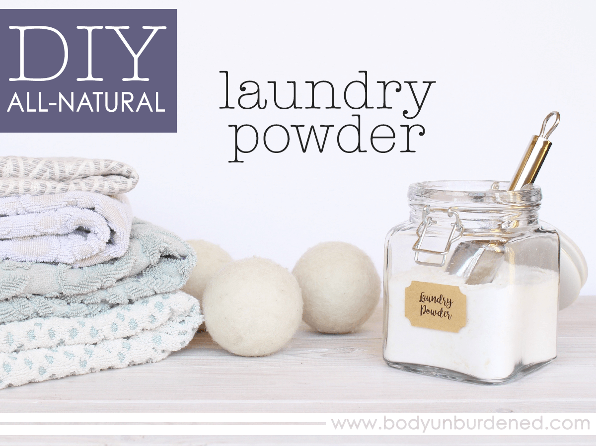 Diy all natural laundry powder recipe