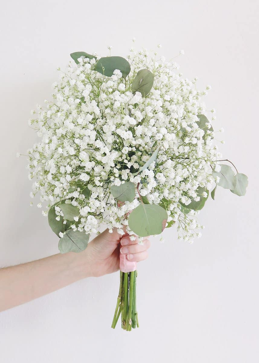 Diy baby's breath and euca bouquet