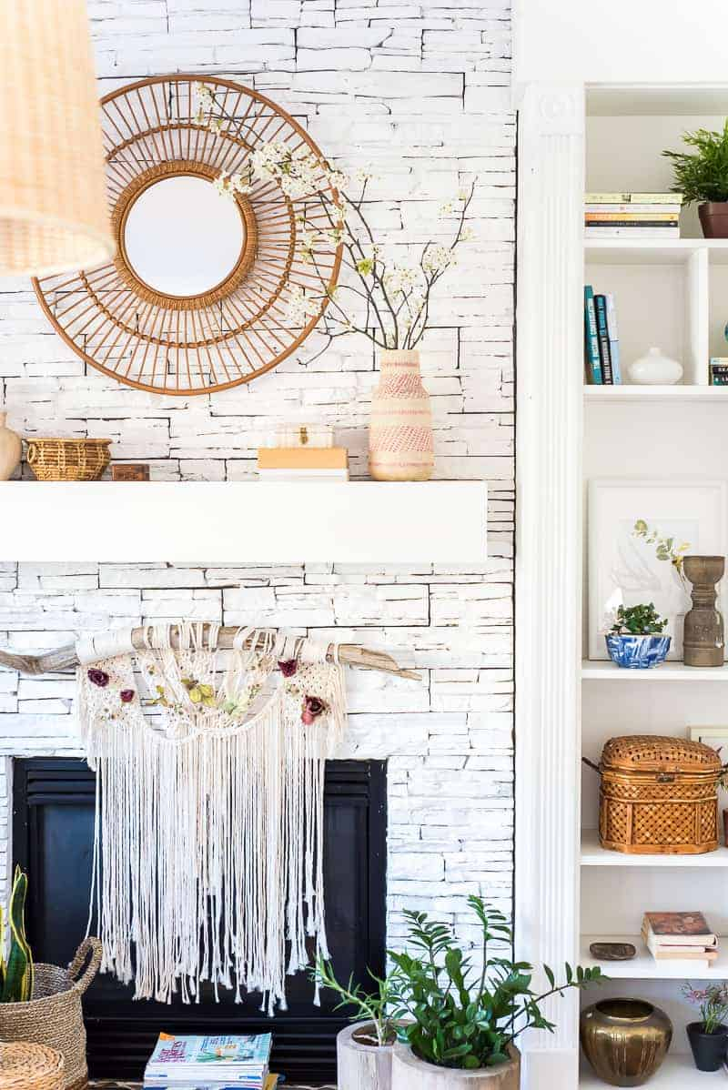 Diy boho mantel decor
