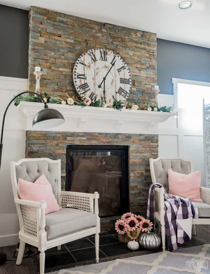 Diy clocks on the mantel