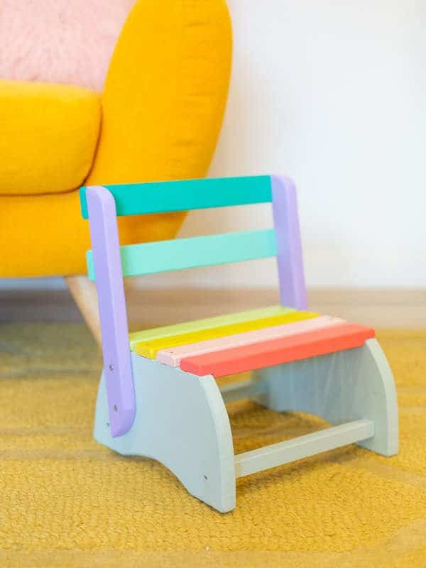 Diy colorful step stool