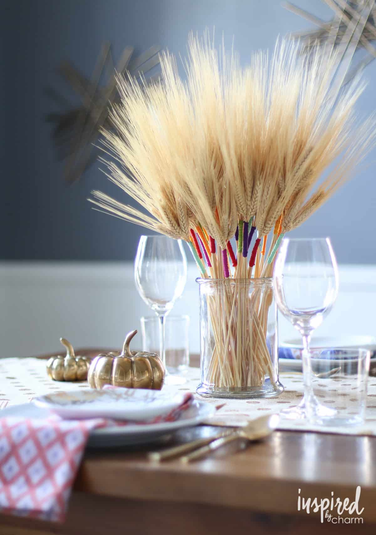 Diy colorful wheat