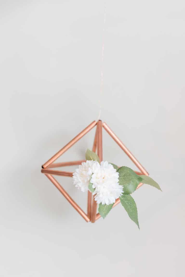 Diy copper geo hanging arrangement