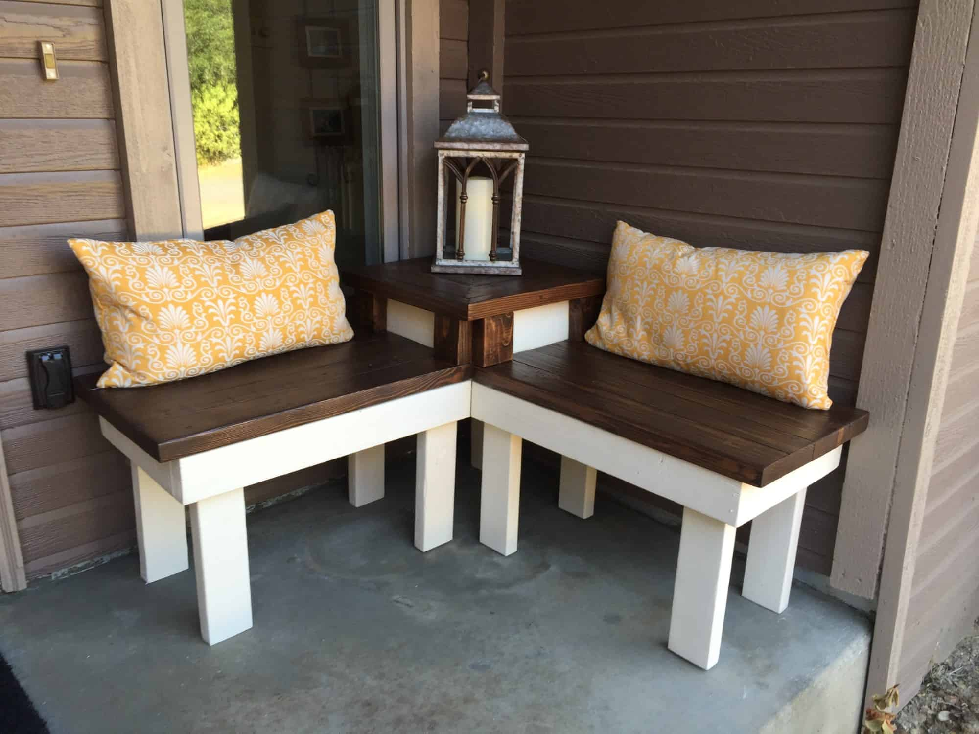 Diy corner bench and table