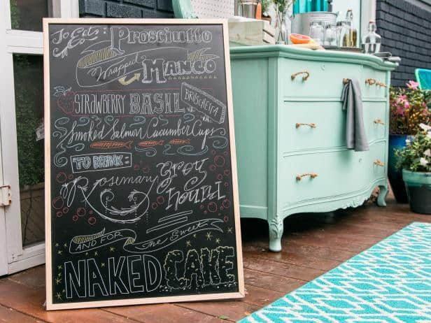 Diy customized chalkboard menu
