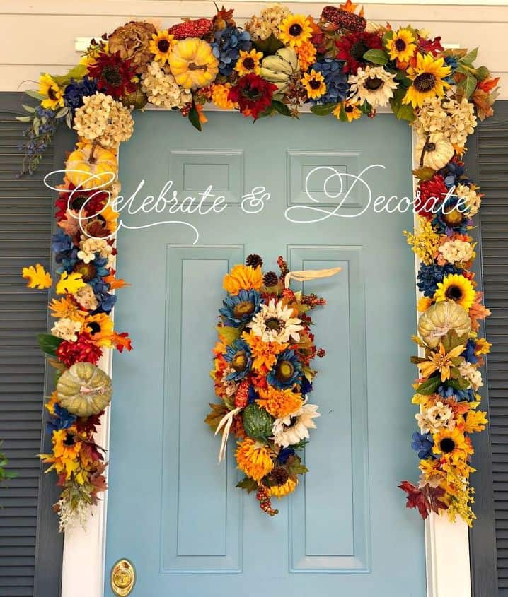 Diy fall front door