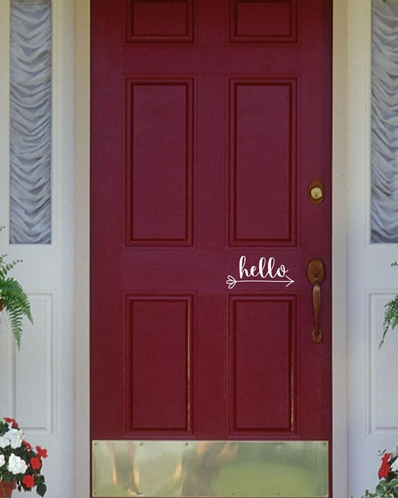 Diy hello door decal