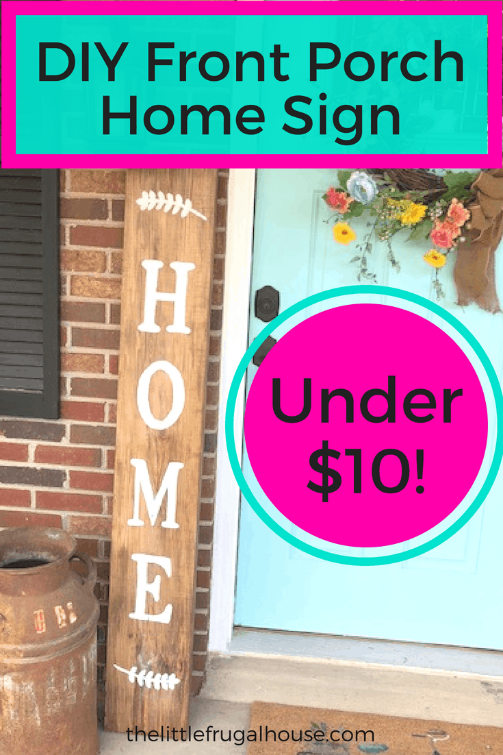 Diy home sign under $10