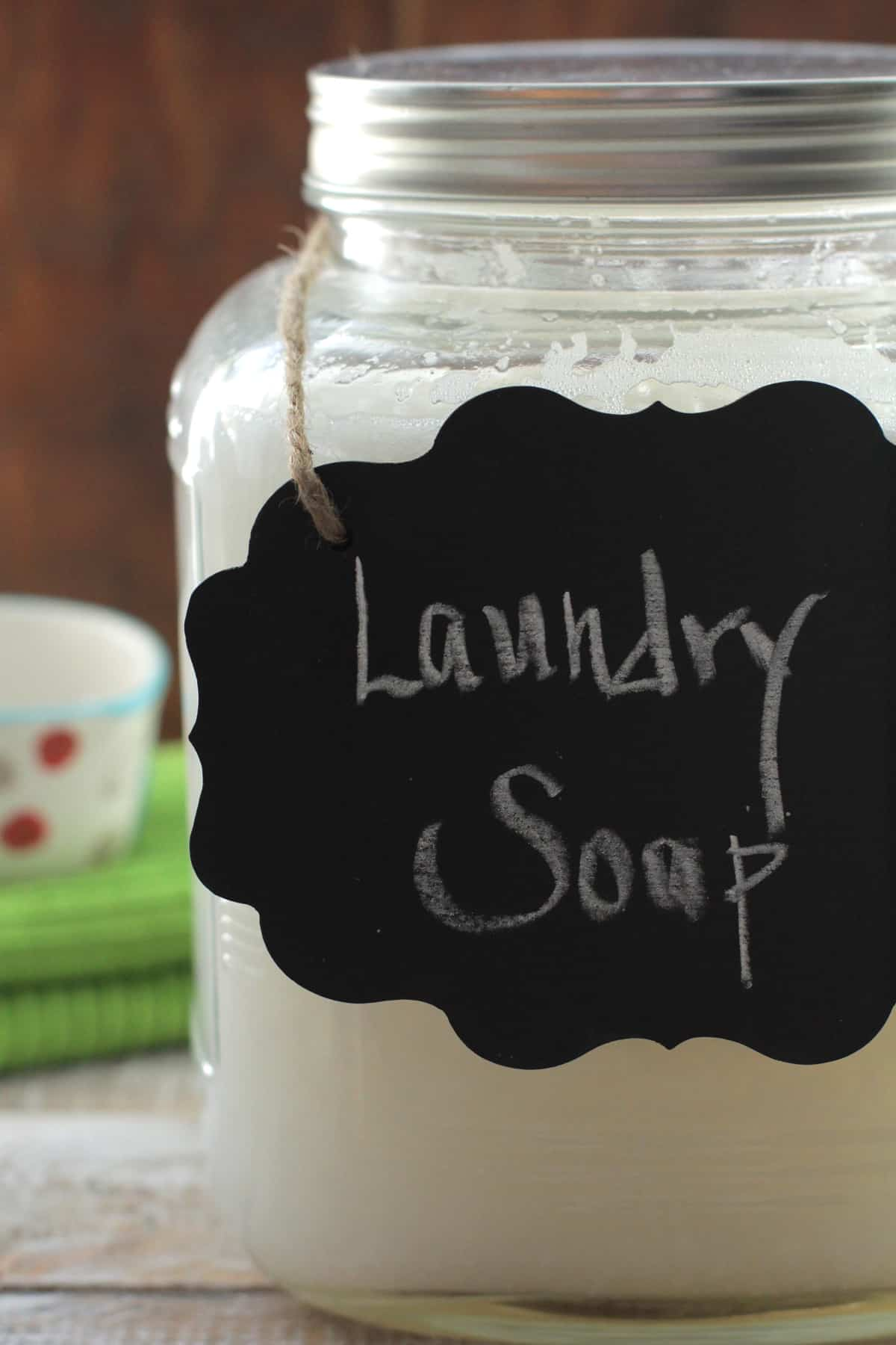 Diy homemade liquid laundry soap