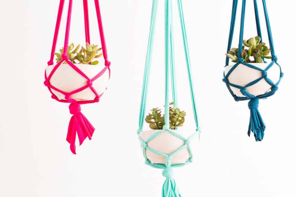 Diy macrame hangers