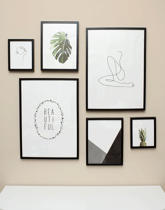 Diy minimal modern gallery wall