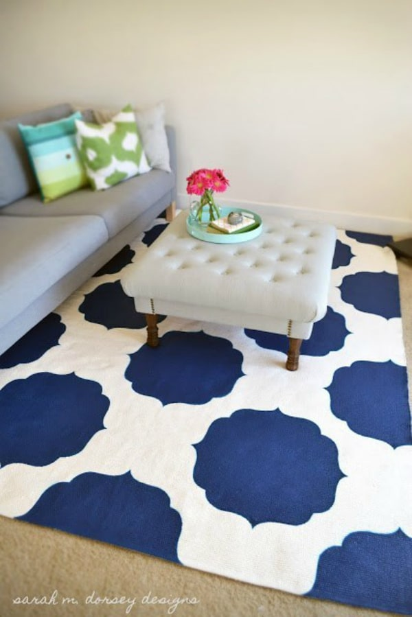 Diy moroccan painted rug 2